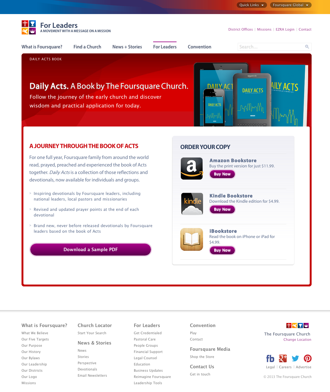 Daily Acts Book Landing Page