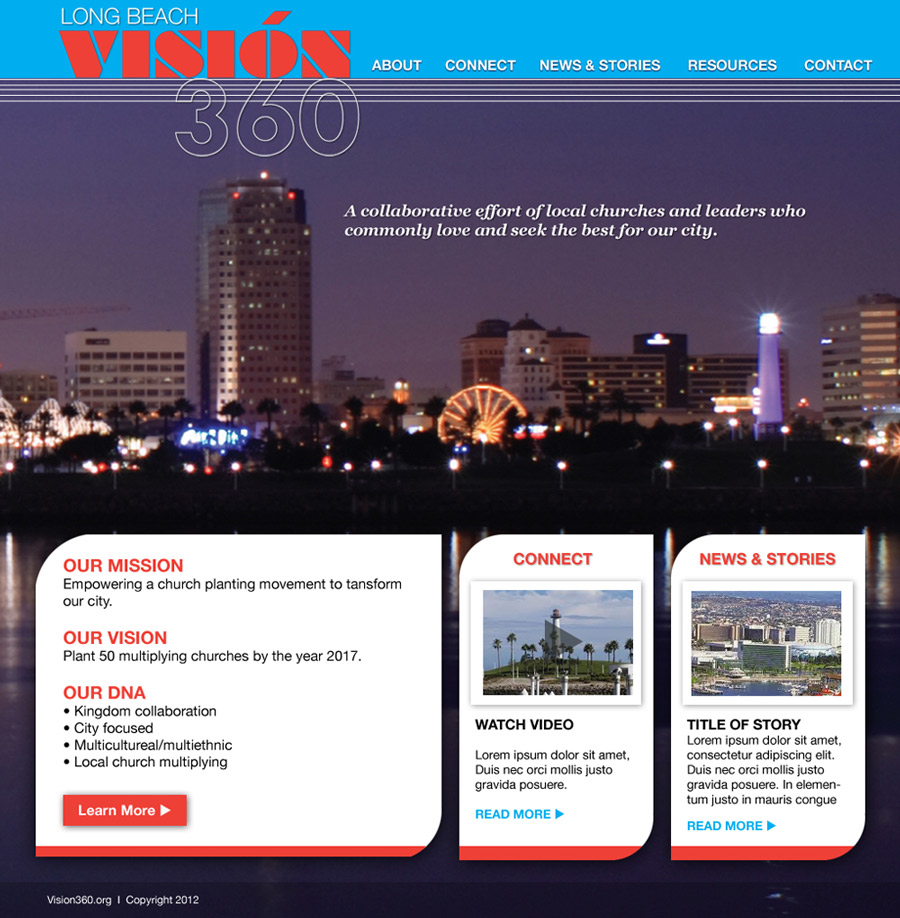 Vision360 Long Beach Website